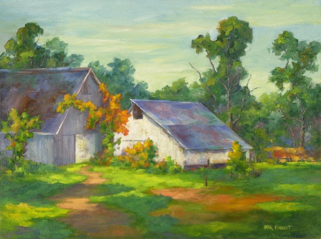 Country barn, old barn, white barn,
