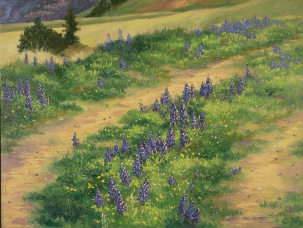 Lupine, flowers flower trail